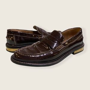 Dolce & Gabanna Patent Leather Penny Loafer Brown